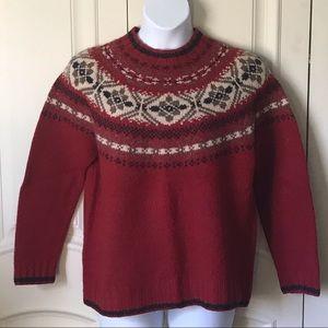 Eddie Bauer 100% Wool Sweater, EUC, Large